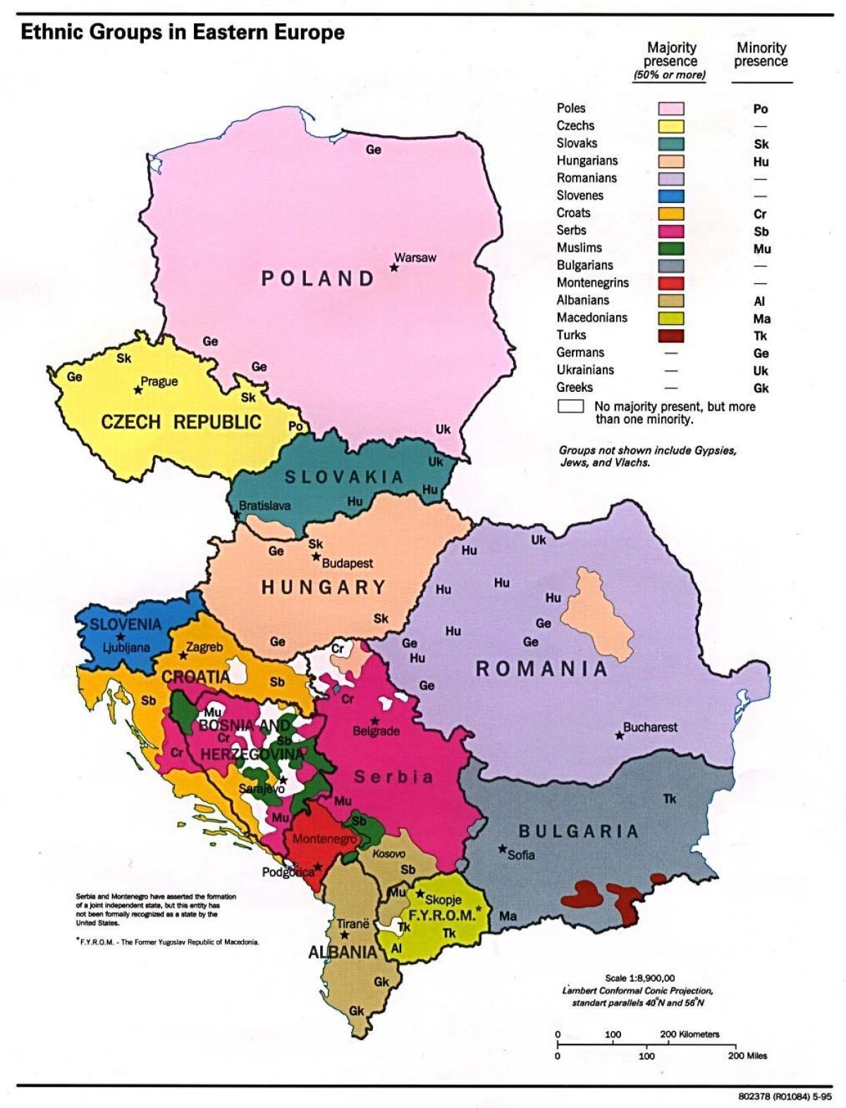 Etnisk Albania Kart Etniske Kart Over Albania Sor Europa Europa